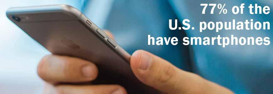 77 Percent of the U.S. population have smartphones