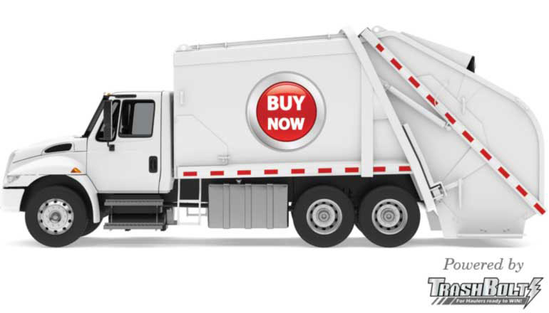 TrashBolt buy now button truck image