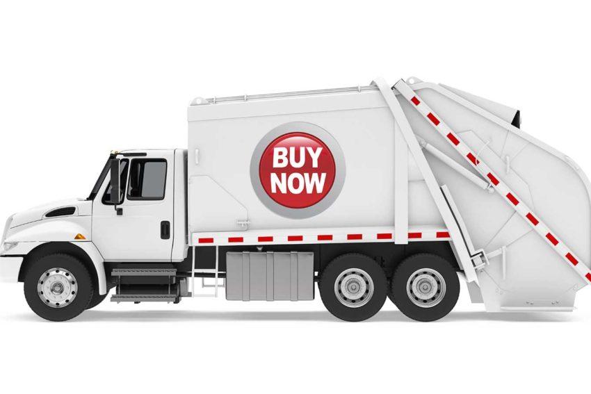 Buy now garbage truck