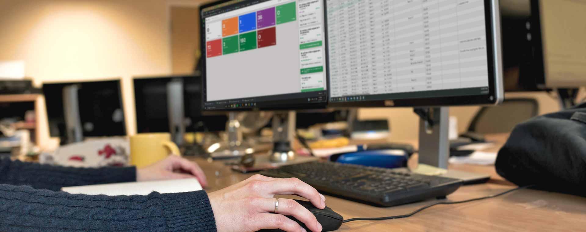 Workstation slide with Panda docs